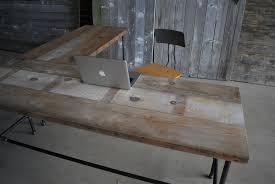 reclaimed wood l shaped desk modern industry l shape reclaimed wood desk modern office