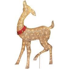 Animated Grapevine Deer Christmas Decor by Holiday Time Christmas Decor 52
