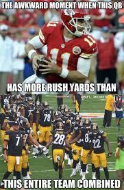 Alex Smith Meme - nfl memes on twitter alex smith 82 rushing yards steelers 79