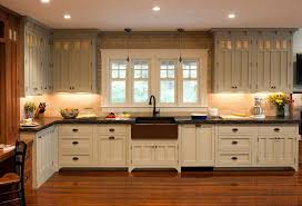 cabinets for craftsman style kitchen kitchen combining 2 cabinetry finishes beautiful details