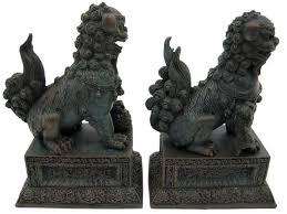 fu dog statues feng shui classical protection symbol fu dogs