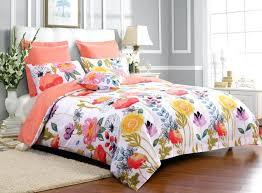 duvet covers gray watercolor leaves pillow sham lavendar and