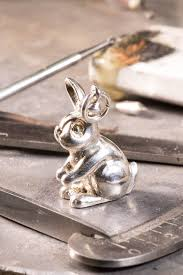ceramic nature rabbit table l silver bunny rabbit charm