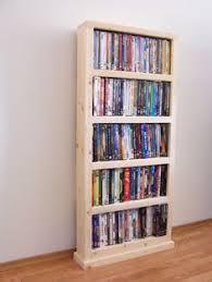 rustic narrow 6 shelf cd dvd storage with drawer wood working