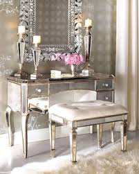 mirrored bedroom vanity table cheap makeup table with mirror white wooden stool on unstained
