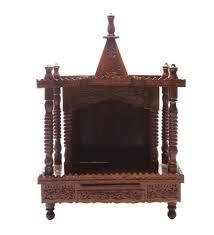 shilpi handcrafted wall mounted temple and wall shelf in sheesham wooden wall bracket sheesham wood shelf 21x17x5 5 mandir