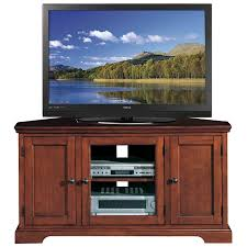cherry corner media cabinet leick riley holliday westwood corner tv stand with storage 46 inch