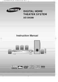 samsung home theater system manual samsung ht ds100 user manual 66 pages