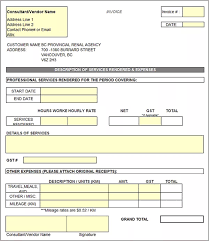 Receipt Template Excel General Invoice Template Contractor Invoice Template For
