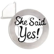 buy she said yes engagement wedding ornament personalized