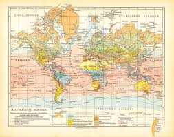 World Climate Map by World Climate Map Print World Map Print World Map Poster