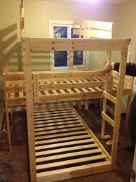 Make A Triple Bunk Bed by Triple Bunk Hack Mydal Bunkbeds Ikea Hackers Ikea Hackers