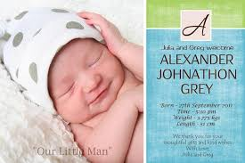 birth announcement and baby thank you photo cards for boys with