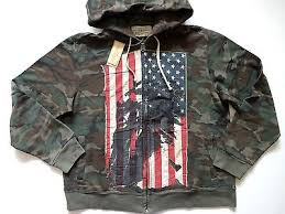 Denim And Supply Jacket New Ralph Lauren Denim And Supply Camo Indian Flag Patch Zip Up
