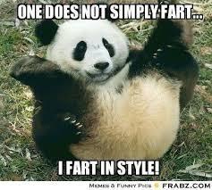 Memes De Pandas - one does not simply fart rolling panda meme generator