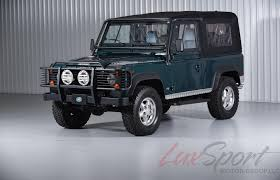 1997 land rover defender interior 1997 land rover defender 90 open top rare british racing green