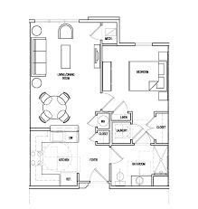 Floor Plan Of A Salon Senior Apartment Community In Harford County Md Perryman