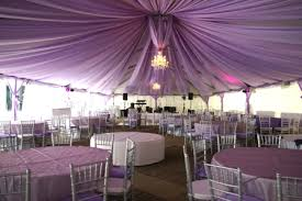 wedding draping in both the softness of the purple lighting and the