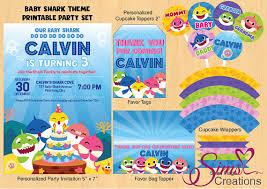 baby shark song free download baby shark birthday party printables baby shark party invitation