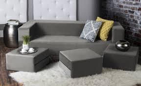 jaxx zipline modular sofa u0026 ottomans convertible foam