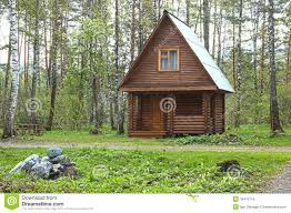 wooden small house in a wood royalty free stock images image