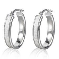 white gold hoop earrings 9ct white gold hoop earrings 0000497 beaverbrooks the jewellers