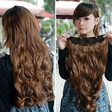clip on hair vktech width 25cm stylish curl wavy