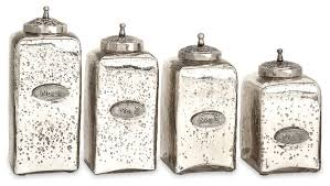 silver kitchen canisters numbered mercury silver chrome jars with lids set of 4 glass iron
