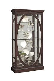 china cabinets amazon com pulaski p021569 sable oval framed mirrored curio cabinet 43 0
