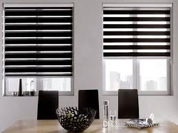 Rica Blinds Translucent 100 Polyester Roller Zebra Blinds In Black Window