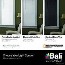 Room Darkening Vinyl Mini Blinds Bali Cut To Size White Cordless 1 In Room Darkening Vinyl Mini