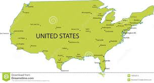 united states major cities map map of usa with major cities stock photography image 18055212