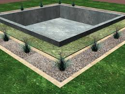install a drainage system around the foundation of a house