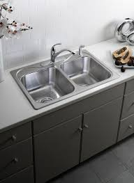 bathroom cast iron drain board farmhouse sink by kohler sinks for