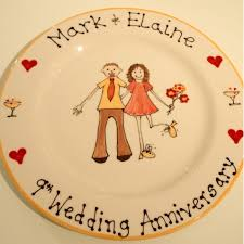 9th wedding anniversary gifts personalised wedding anniversary gifts
