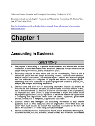 solutions manual financial and managerial accounting 6th edition