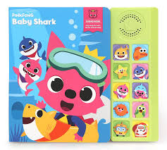 baby shark song free download amazon com pinkfong children s baby shark sound book blue yellow