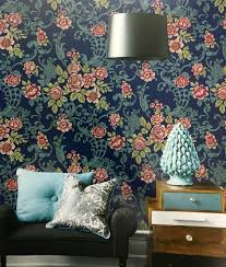 floushing age imported wallpaper in india this blue background