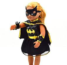 Doll Dress Halloween Costume Amazon 18inch Doll Dress Batgirl Cosplay Clothes American