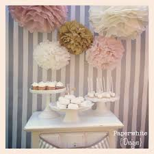 Bridal Shower Centerpiece Ideas by Tissue Paper Pompoms Baby Shower Decorations Farmhouse Style