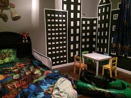 Ninja Turtle Bedroom Furniture by A Great Way To Decorate A Boys Room Create A City Where You Can