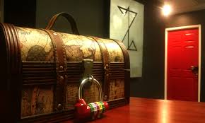 mysterious treasure chest puzzled room escape the real life