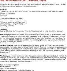 sample cover letter for child care worker download sample child