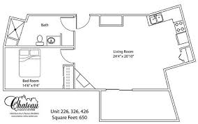 650 Square Feet Floor Plan Renton Retirement Living Floor Plans Chateau Valley Center