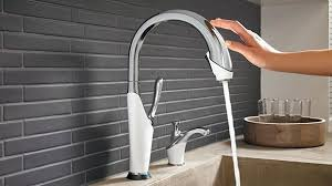 Delta Touch Kitchen Faucet Large by Contemporary Kitchen Faucets Kitchen Faucets Touch Sensor