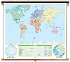 Quotes About Maps Beginner U S U0026 World Political Classroom Map Combination On