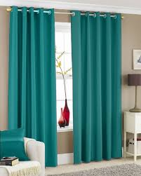 Curtains With Rings At Top Curtains Turquoise And Brown Color For Livingroom