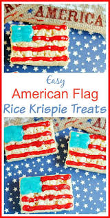 Uncommon Usa Flags Easy American Flag Rice Krispie Treats Blue Desserts Rice