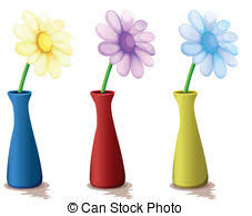 Vases With Flowers Clip Art Of Vase With Colorful Flowers Csp3523152 Search