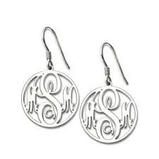 monogrammed earrings personalized earrings sheown